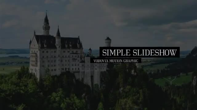 Simple Slide Show: After Effects Templates
