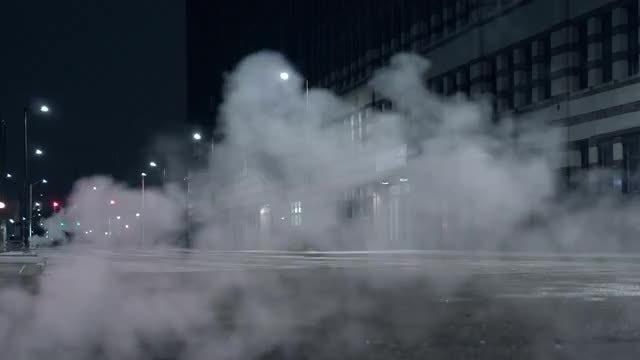 Smoke In City Street: Stock Video
