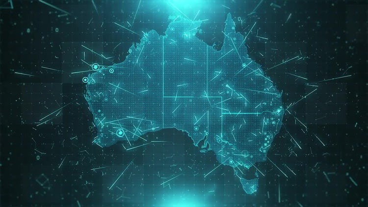Australia Map Background: Stock Motion Graphics
