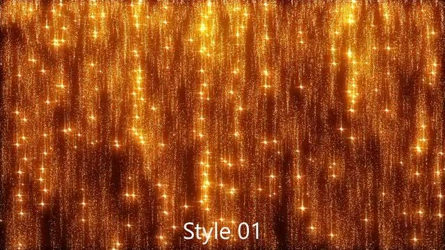 Golden Particles Falling Shimmer: Stock Motion Graphics