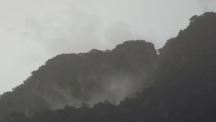 Rain And Mist Timelapse: Stock Video