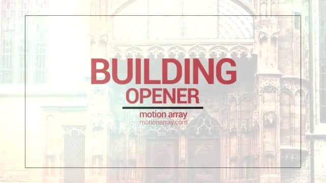 Building Opener: After Effects Templates