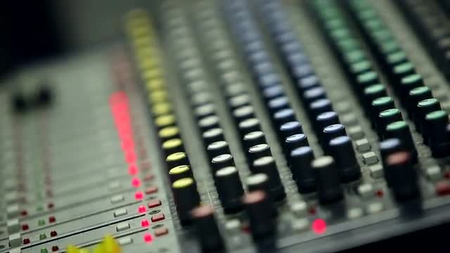Audio Mixing Console: Stock Video