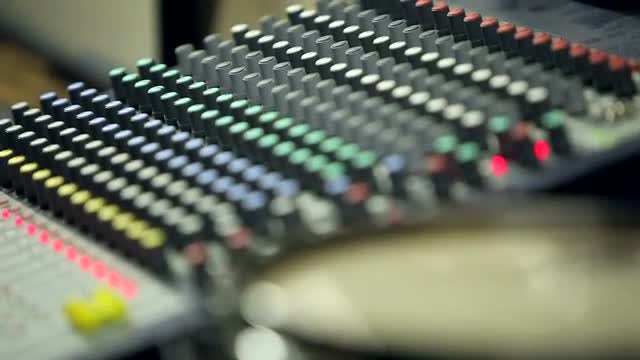 Professional Audio Mixing Console: Stock Video