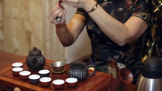 Chinese Tea Ceremony: Stock Video