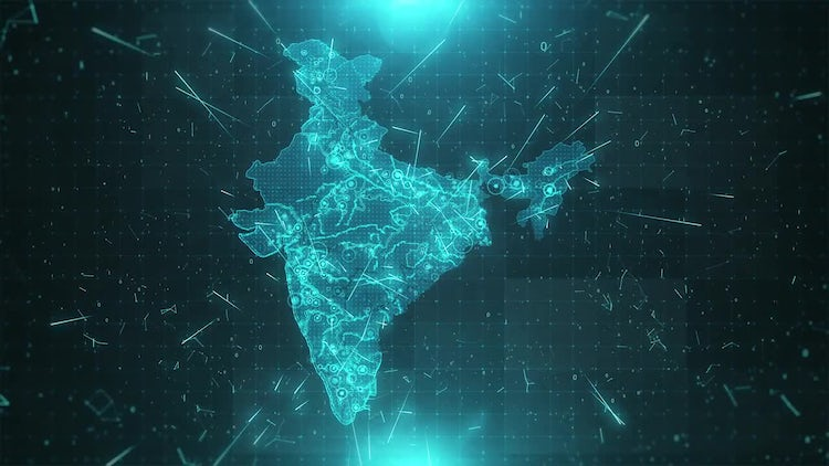 India Map Background: Motion Graphics