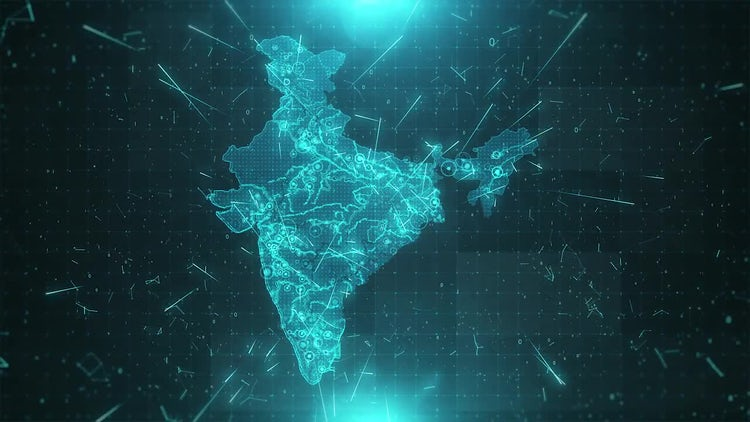 India Map Background: Stock Motion Graphics