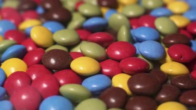 Colorful Candy Rotating: Stock Video