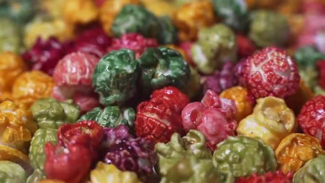 Colorful Popcorn: Stock Video