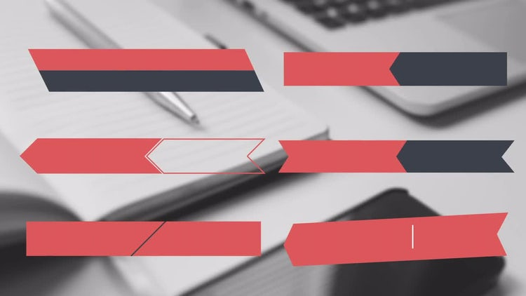 6 Corporate Lower Thirds: Stock Motion Graphics
