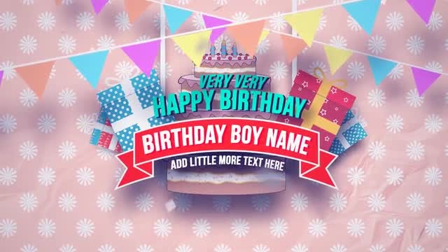 Happy Birthday Slideshow: After Effects Templates