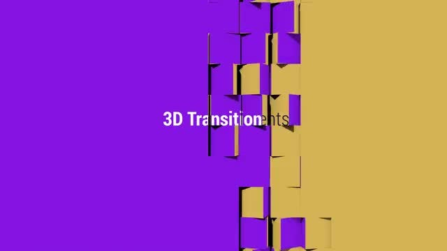 3D Transitions 2: After Effects Templates