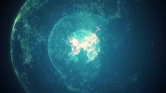 Blue Rotating Planet Earth: Stock Motion Graphics