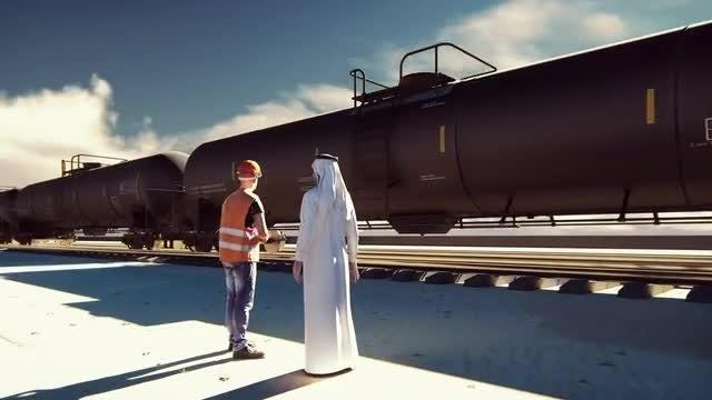 Oil Worker, Arab Sheikh Talking: Stock Motion Graphics
