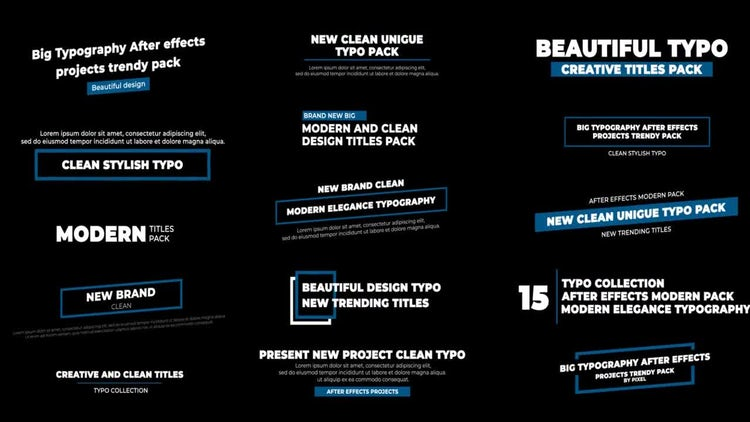 Titles: After Effects Templates