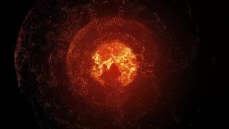 Red Rotating Planet: Motion Graphics