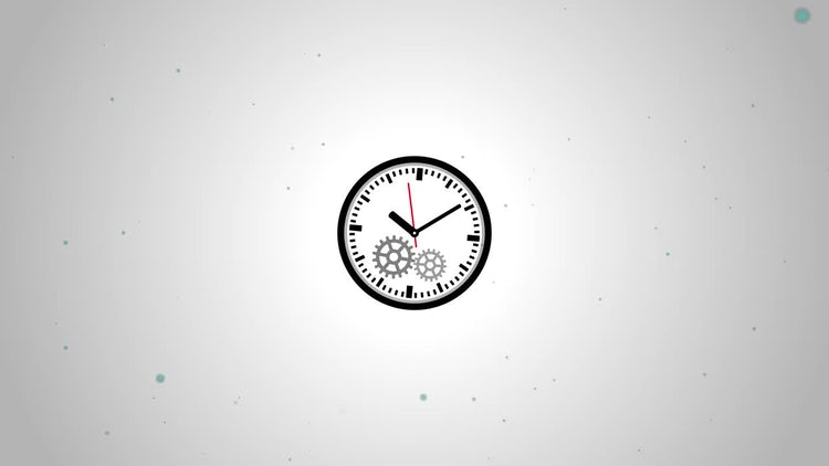Simple Clock Logo: After Effects Templates