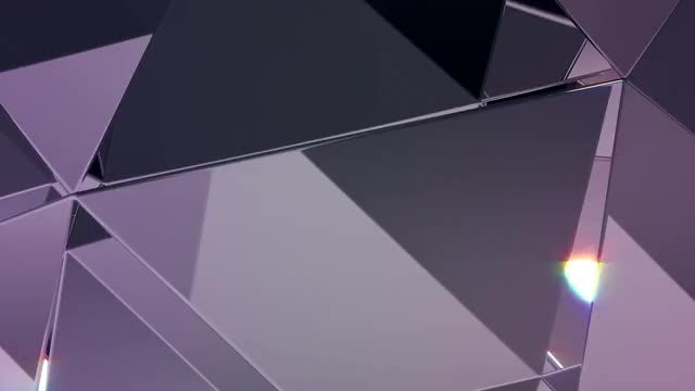 Diamond Refraction Loop BG: Stock Motion Graphics