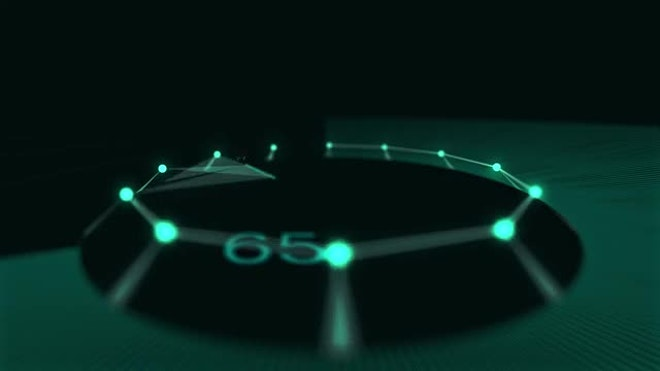 8K Digital Loading Screen 1-100: Stock Motion Graphics