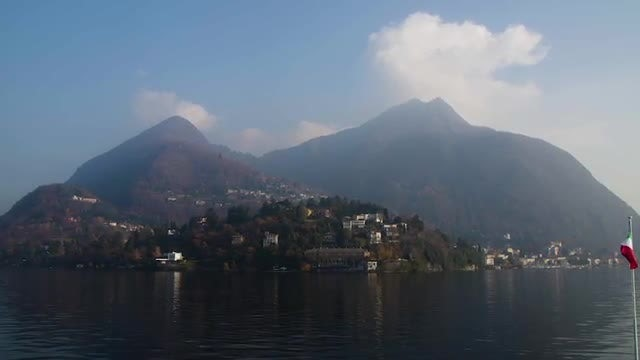 Coastal Italian Hills: Stock Video