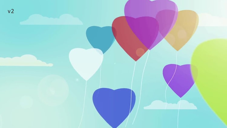 Balloons Logo - 2 Versions + Vertical: After Effects Templates