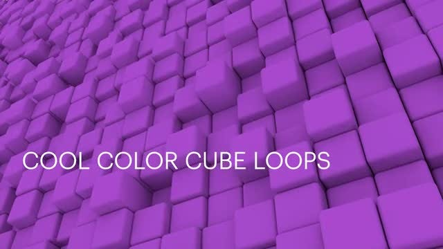 Cool Color Cubes: Stock Motion Graphics