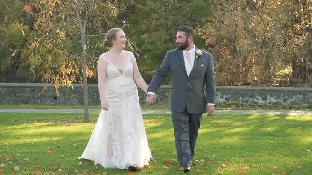 Newlyweds Walking: Stock Video