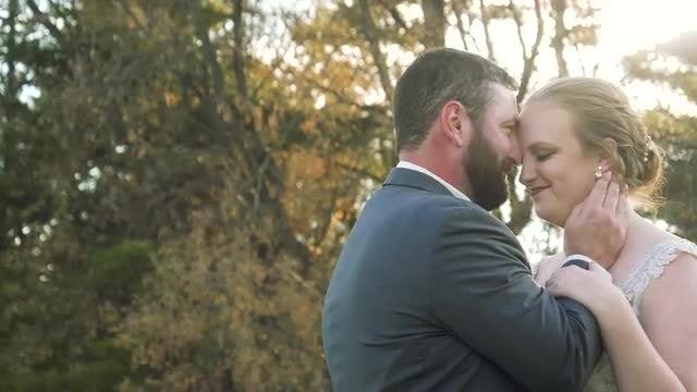 Beaming Newlyweds: Stock Video