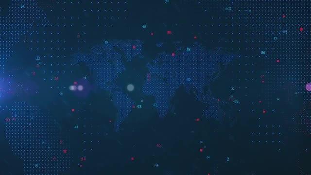 Tech World Map: Stock Motion Graphics