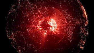 Rotating Red Earth: Motion Graphics