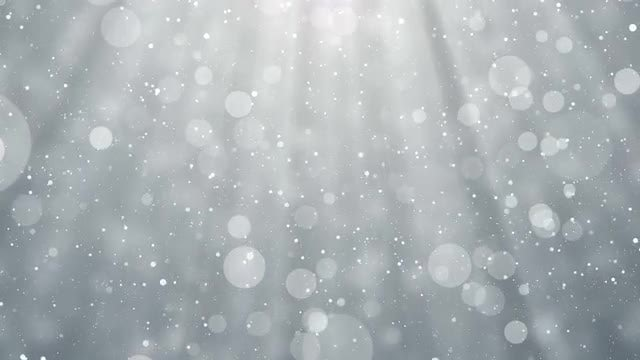 White Particles Snowy Background Loop: Stock Motion Graphics