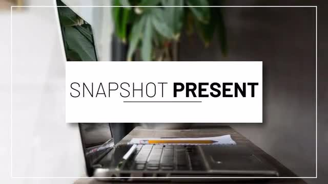 Snapshot Presentation: After Effects Templates