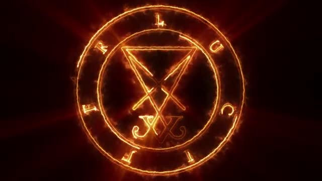 Lucifer Devil Symbol: Stock Motion Graphics