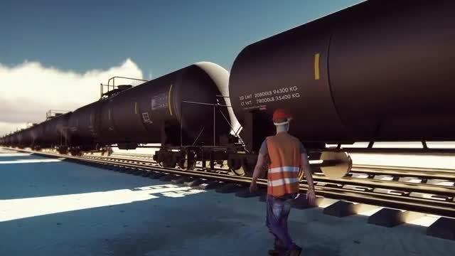 Oil Train: Stock Motion Graphics