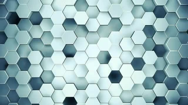 Abstract Blue Geometric Surface: Stock Motion Graphics
