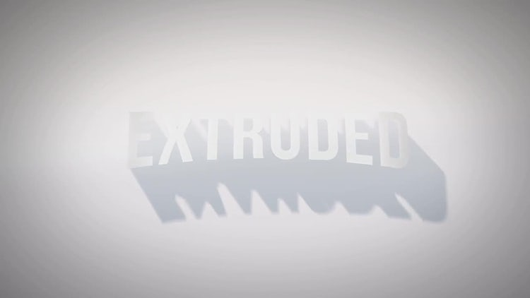 Extruded Title Reveal: After Effects Templates