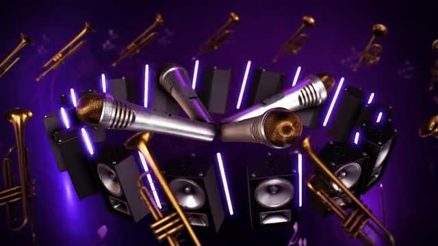 Music Production Background 2 Loop: Stock Motion Graphics