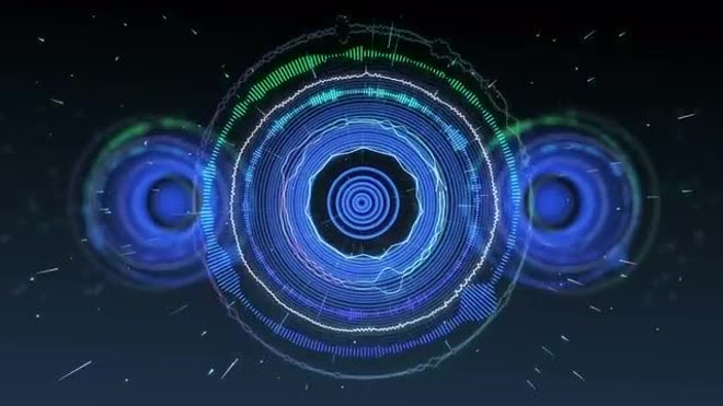 Stylized Speakers Pulsating To Music: Stock Motion Graphics