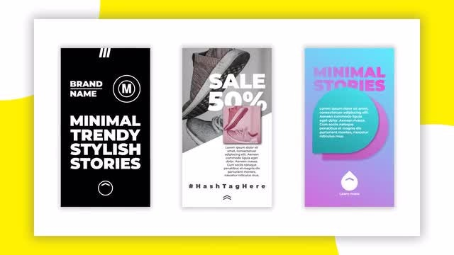 Stylish Instagram Stories: After Effects Templates