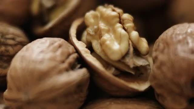 Close-up Of Walnuts: Stock Video