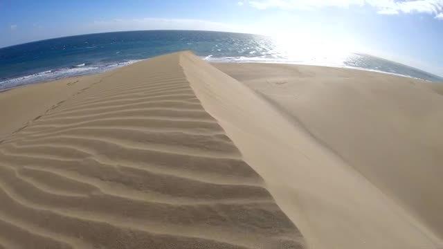 Sand Dune Near Ocean: Stock Video