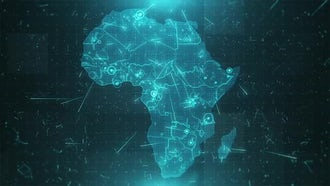 Africa Map Background: Motion Graphics