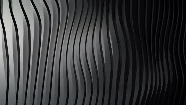 Abstract Black Glossy Stripes Background: Stock Motion Graphics