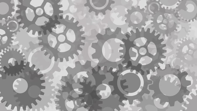 Gears Background: Stock Motion Graphics