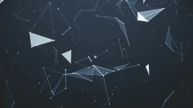 Plexus Planes Lighting Up: Stock Motion Graphics