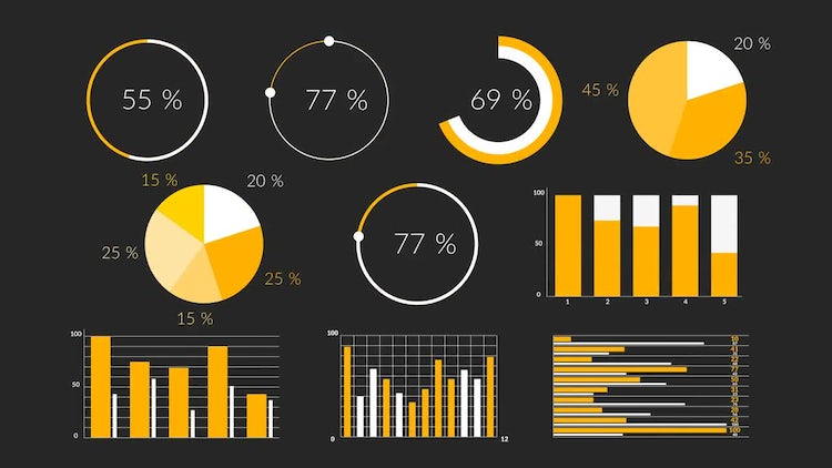 Flat Infographics: After Effects Templates