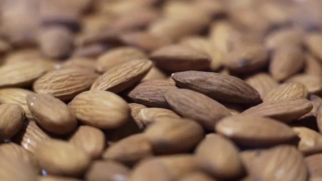 Almonds Rotating: Stock Video