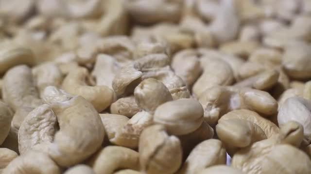 Cashew Kernels Rotating: Stock Video