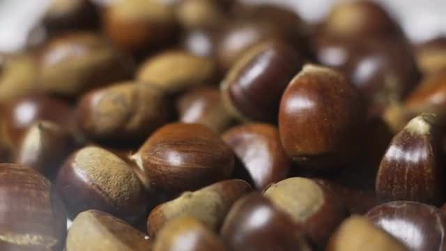 Chestnuts Rotating: Stock Video