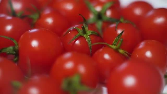 Cherry Tomatoes Rotating: Stock Video